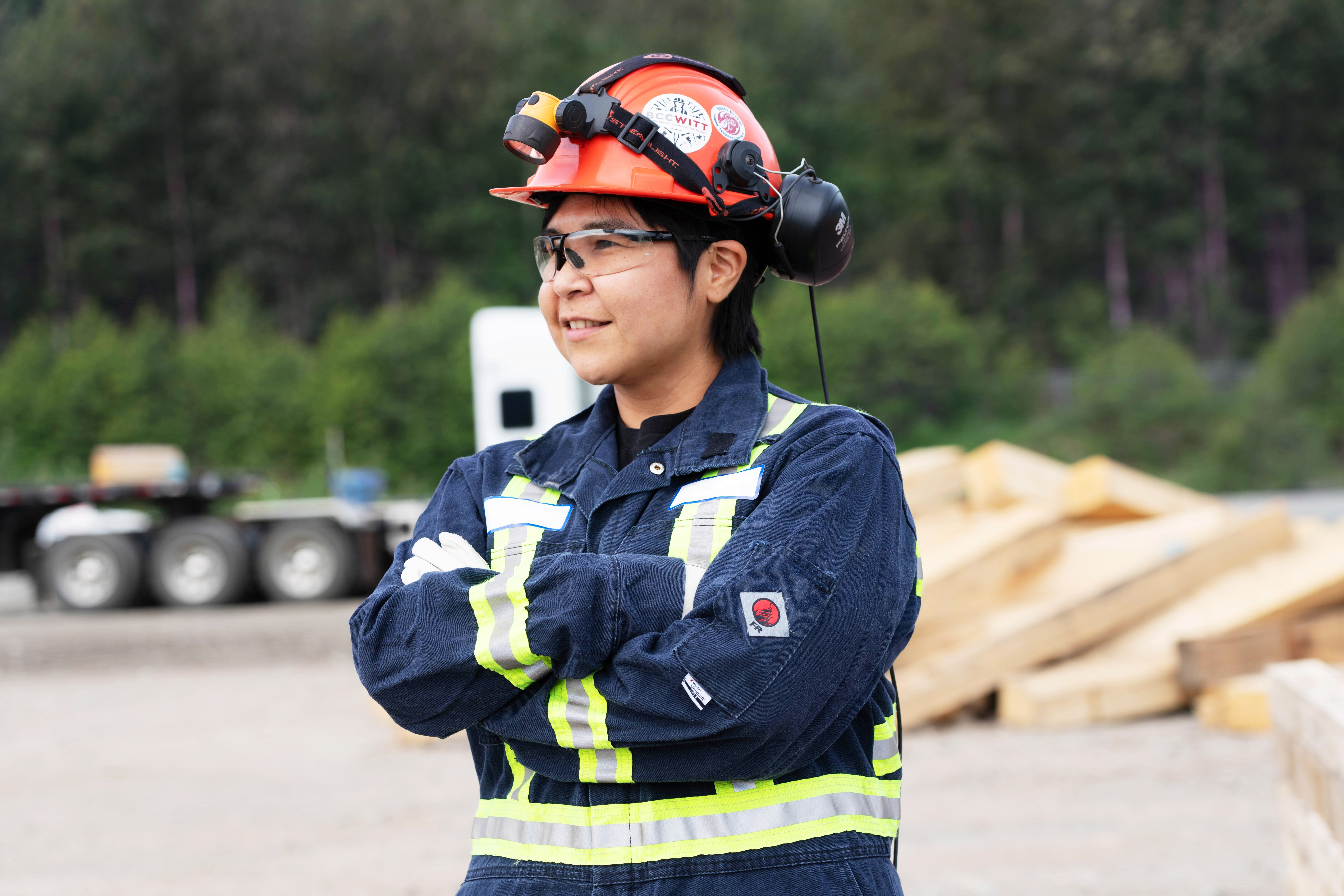 Adrienne Nisyok, an Indigenous woman living in Kitimat, B.C., has been an electrician for 22 years.